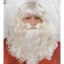 サンタクロース ウィッグ、かつら 髭 ヒゲ  BEARD DLX クリスマス ホワイト