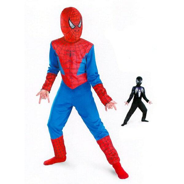 スパイダーマン 赤、黒 リバーシブル 衣装、コスチューム コスプレ 子供男性用ハロウィン