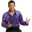ディスコシャツ Purple 衣装、コスチューム コスプレ 大人男性用 ハロウィン|35-3、