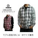 フレッシュジャイブ FreshJive ジャケット シャツ GREASERS シャツジャケット チェック 格子 ツートン 中綿入り メンズ