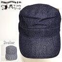 ステュディオ ダルチザン STUDIO D´ARTISAN D7222 ワークキャップ デニム地 帽子 送料無料