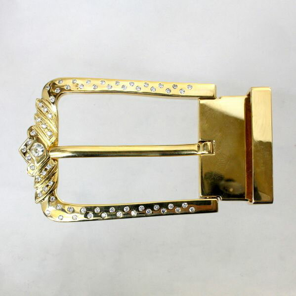 【中古】 18金 ダイヤ 1.395ct バックル 新品クロコダイルベルト付き