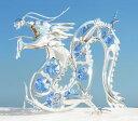 誕生日プレゼント 男性/女性スワロフスキー クリスタル/青 龍(蒼龍)の置物