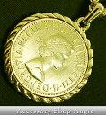 イギリス通貨 24金コート エリザベス コイン ネックレス ゴールド 喜平 チェーン キヘイ 送料無