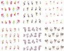 極薄・重ね貼りOK リアルフォトウォーターネイルシール 花柄11種set-1