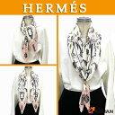 激レア物!希少品!【送料無料】【送料込み】HERMES エルメスプリーツ スカーフ シルク100%LES CLES 鍵柄Plissee・Carre プリーツ…