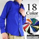 シャツ メンズ 長袖シャツ ブロードシャツ M/L/XL 3サイズ 18色