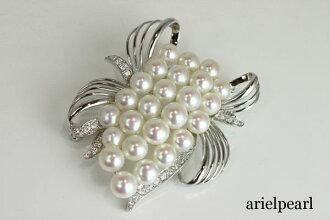 Pearl Pearl brooch Freshwater Pearl brooch Freshwater Pearl White pink color silver Pearl Pearl Moonstone