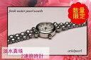 真珠パールブレスレット淡水真珠ブレスレット淡水パールグレーカラーデザイン2連5mm-6mmボタン型パール腕時計、ウオッチ、ブレスレット