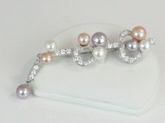 Pearl pearl broach freshwater pearl broach fresh water pearl silver multicolored pearl pearl moonstone