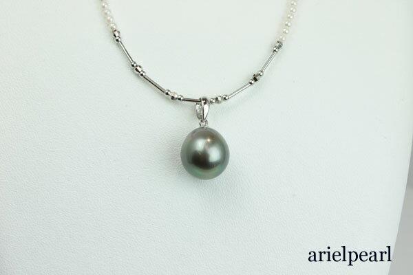 真珠 パール ネックレス 黒蝶真珠 あこや真珠...の紹介画像2