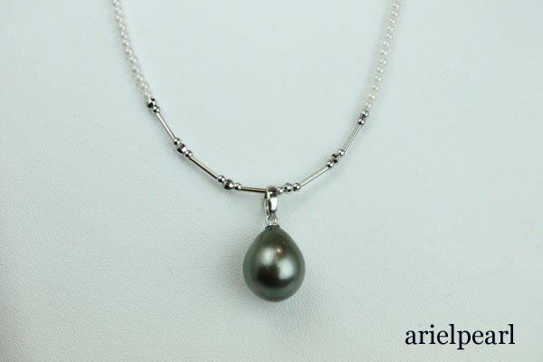真珠 パール ネックレス 黒蝶真珠 あこや真珠...の紹介画像3