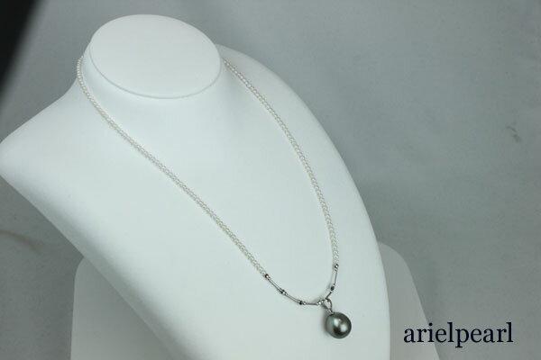 真珠 パール ネックレス 黒蝶真珠 あこや真珠 ...の商品画像