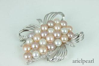 Pearl pearl broach freshwater pearl broach fresh water pearl multicolored silver