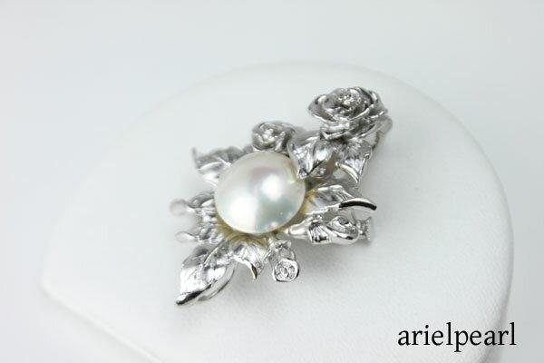 真珠 パール ブローチ マベ真珠 パール ブロー...の商品画像