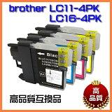 ��brother/�֥饶�� LC11-4PK��LC16-4PK���б� �ߴ��������ȥ�å��ۡ�LC11BK/LC11C/LC11M/LC11Y��LC16BK/LC16C/LC16M/LC16Y�� 4�����åȡۥ���ޥ��?�쥯�� A-LC11-4PK