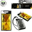 USBメモリー 32GB キャップレス スライド式 アンバー シルバー シリコンパワー Touch 850永久保証