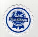 輸入ワッペン★Pabst Blue Ribbon BEER★パブスト ブルーリボン★