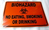 庭や車庫、玄関の飾りに!プラスチック?サインボード★Plastic Sign Board★BIOHAZARD★バイオハザード 飲食禁止/喫煙禁止
