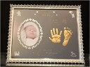 Baby手形足形ミラーフレーム2個セット*NEW*ミラーに彫刻*【誕生・出産・内祝い*名入彫刻】