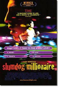 【枚数限定・両面印刷】[映画ポスター] スラムドッグ$ミリオネア (SLUMDOG MILLIONAIRE) [DS]