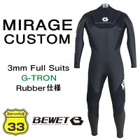2018モデル ★ BE WET ★ BEWET 男性用 MIRAGE CUSTOM 3mm FL J-FLAP XW RUBBERの画像