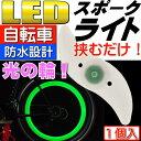 送料無料 自転車スポークLEDライトグリーン1個綺麗な光の輪できる自転車LEDライト 夜間も安全自転車 LED ライト 明るい自転車LEDライト as20015