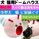 送料無料 猫 小型犬用ベッド ハナコドーム トンネルおもちゃ ペット用品 お家 おもちゃ ベッド クッション になる便利なアイテム Fa5137