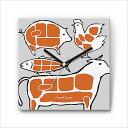 壁掛け 時計 おしゃれ 【FabriClock】 ファブリクロック/お肉/FCM-FO-009 ウォールクロック 掛け時計 アンティーク インテリア デザイナーズ ファブリック 布 人気 モダン 子供部屋