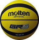molten モルテンゴムバスケットボール5号球GR5(BGR5-YK)イエロー×ブラック