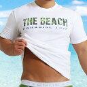 EGDE← PARADISE TRIP ストレッチコットン Tシャツ THE BEACH