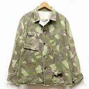 【中古】◆実物 フィンランド軍 M62 カモフラージュジャケット 1960年代 グリーン ヴィンテージ♪ミリタリー アウトドア 迷彩 アーミー ..