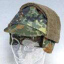 新品◆実物 ドイツ軍 フレックカモ 1990年代 イアカバー付きキャップ♪デッドストック ミリタリー 放出品 迷彩 軍物 軍帽子 アウトドア CAP ユーロ 放出品 UK 英軍