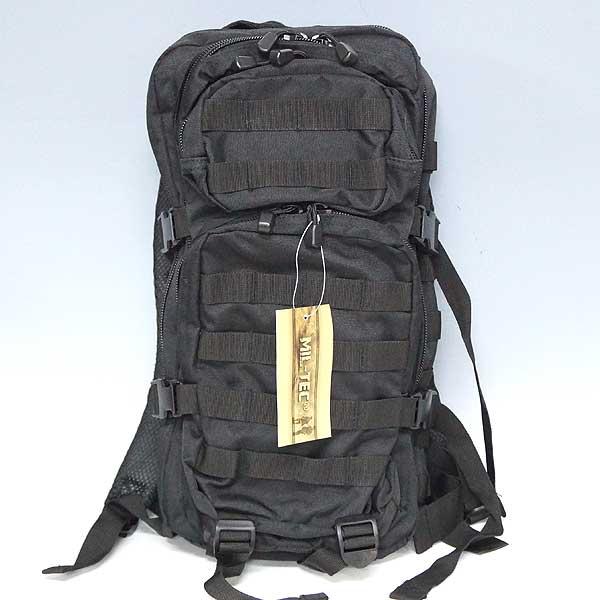 新品◆米軍 Mil-Tec(ミルテック) バックパック リュックサック ウェストベルト付き ブラック レプリカ♪ミリタリー バッグ 軍物 アウトドア 非常袋 復刻