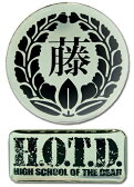 学園黙示録 HIGHSCHOOL OF THE DEAD ロゴ 二個入り ピンバッジ (北米版 22)