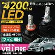 トヨタ ヴェルファイア[20系 前期]専用4200ルーメン LED-HB4フォグランプ CREE社製LED/色温度:6500K 冷却ファン搭載 アルミヒートシンクケース