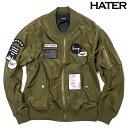 HATER(ヘイター) ワッペンMA-1ジャケット【KHAKI:カーキ】【ボンバージャケット】【ブルゾン/ジャンバー】【メンズ】【2017春新作】【あす楽】
