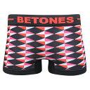 【雑誌OCEANS、LEON掲載ブランド】BETONES(ビトーンズ)アンダーウェア FESTIVAL【ピンク×ダイヤ柄】【ボクサーパンツ】【FREEサイズ】