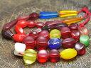 【1604】ANTQボヘミアウランガラス含む多形状MIXビーズ一連【とんぼ玉】【アンティークビーズ】【あす楽対応_関東】【ローマングラス】【ビーズ】【パーツ】【チェコビーズ】【骨董】【antiquebeads】【beads】【送料無料】