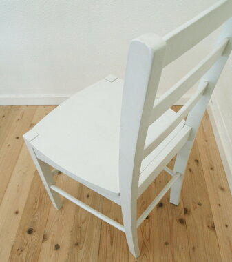 【木製チェア/CDK0383/ホワイト】カラフルダイニングチェア/木製学習いす/木製デスクチェア