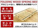 収納式ウッドスプリングベッド 【折りたたみ収納ウッドスプリングベッドForma-dx-fld/100幅シングルサイズ】フレームのみ