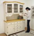 フレンチ カントリー オープンキッチンボード アトランタ ミルキー ホワイト