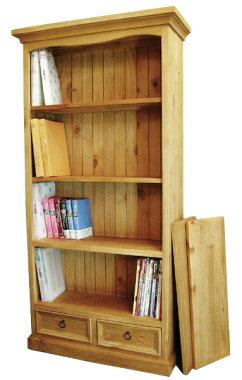 パインの無垢材をふんだんに使ったカントリーな本棚です