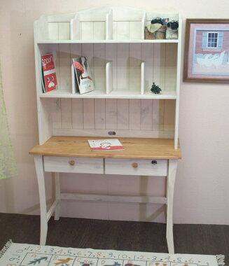 子供と環境に優しいオイル仕上げ白い学習机