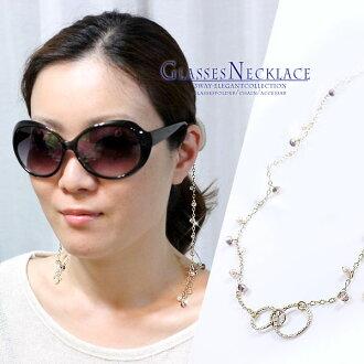 眼鏡鏈 3 方式眼鏡鏈眼鏡鏈珠呈現了紫色紫色黃金黃金眼鏡架眼鏡帶媽媽的珍珠,眼鏡眼鏡眼鏡母親豪華豪華項鍊