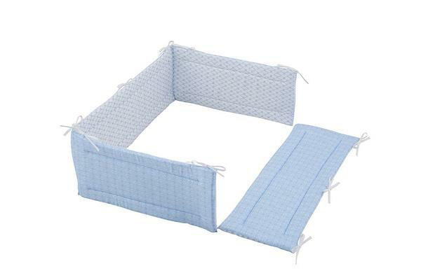 ミニ四方ヘッドガードプチアンジェサックス日本製ベッドガードベビー寝具ホワイトリバーシブル