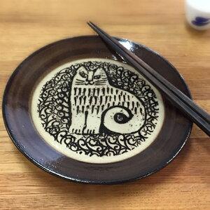 リサラーソン益子の皿ーねこ(NINA)【益子焼】【リサ・ラーソン】【北欧】【02P10Jan15】