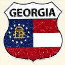 ジョージア州 GEORGIA 標識型 州旗柄 アメリカンブリキ看板 アメリカ ブリキ看板 アメリカン雑貨 アメリカ雑貨 サインプレート サインボード メタルプレート おしゃれ 店舗 カフェ バー ガレージ インテリア フラッグ柄 ブリキ ポスター 看板