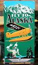 アラスカ・ワシントン航空★FLY TO ALASKA★当店激レア評価★アメリカンブリキ看板★アメリカ ブリキ看板 アメリカン雑貨 アメリカ雑貨…