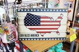 星条旗柄★レトロ調・木製看板・木製プレート★木製ボード アメリカン雑貨 アメリカ雑貨 アメリカ カントリー 雑貨 おしゃれ カフェ 店舗 ガレージ インテリア